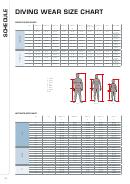 Schedule Diving Wear Size Chart