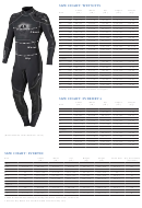 Scubapro Wetsuit Size Chart