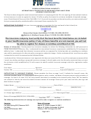 Florida International University International Student Health Insurance Compliance Form