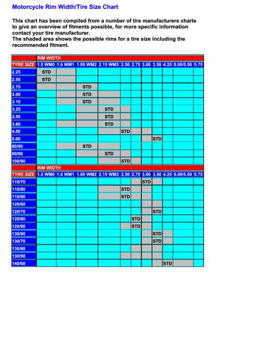 Motorcycle Rim Width Tire Size Chart Pdf Disrespect1st Com