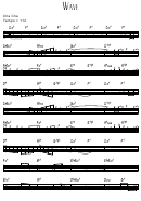 Wave Sheet Music