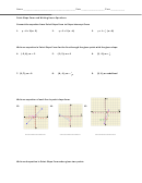 Point Slope Form And Writing Linear Equations