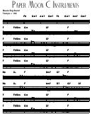 Paper Moon C Instruments Sheet Music