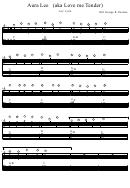 Aura Lee (aka Love Me Tender) Arr: Jytte Piano Sheet Music