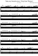 Take My Breath Away (top Gun Theme) Arr: Jytte Piano Sheet Music