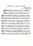 Weigenlied/brahms Lullaby Piano Sheet Music