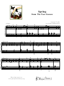 Spring From The Four Seasons Piano Sheet Music