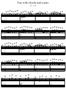Fun With Chords And Scales Piano Sheet Music