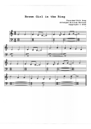Brown Girl In The Ring Piano Sheet Music
