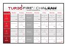 Turbo Fire Schedule