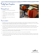 Portly Paper Pumpkins Template
