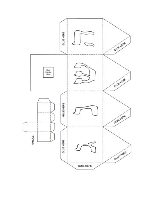 hanukkah paper dreidel template printable pdf download