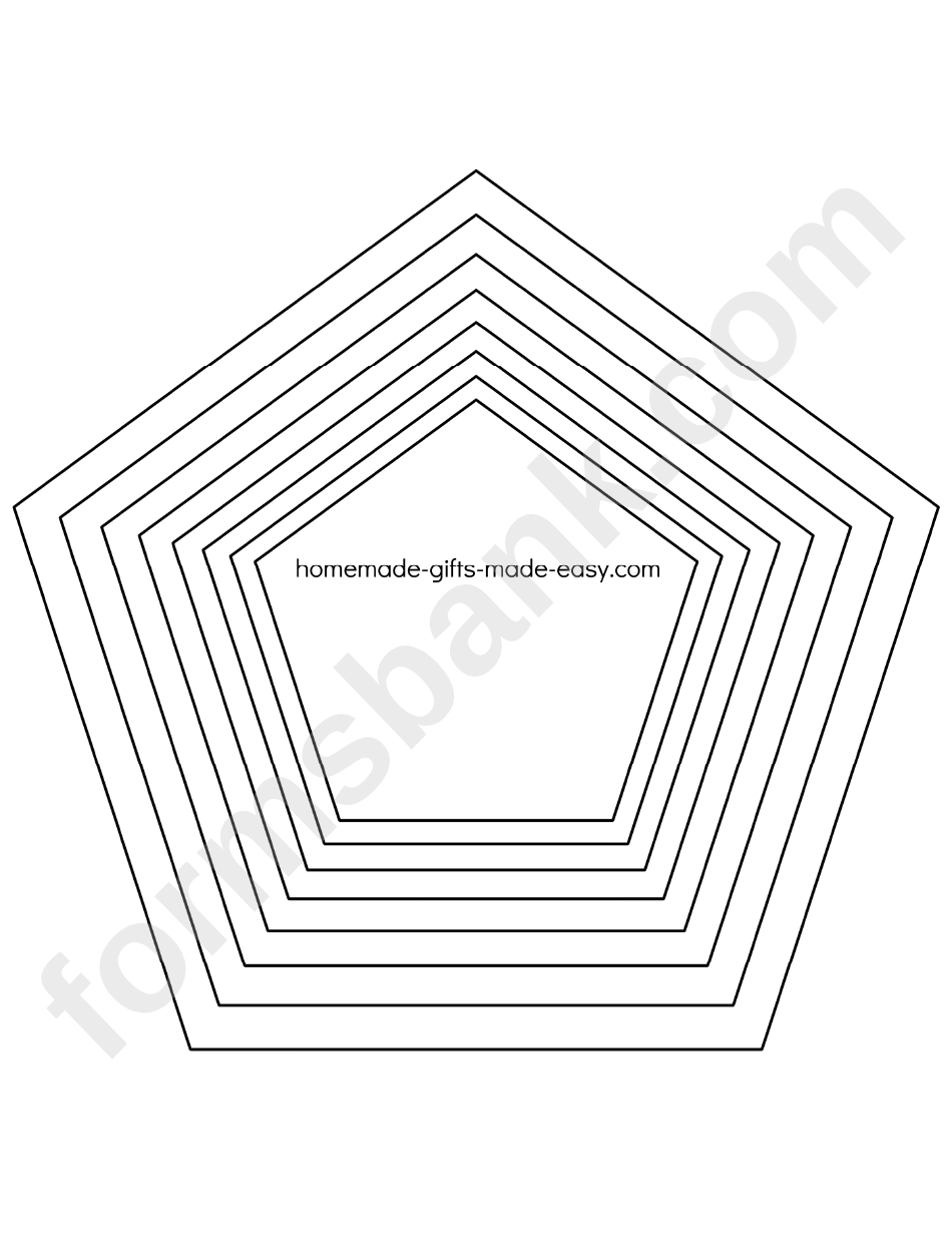Pentagon Template Printable Pdf Download