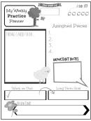 Weekly Practice Planner For Kids Summer