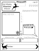 Weekly Practice Planner For Kids Deer