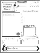 Weekly Practice Planner For Kids Snowman