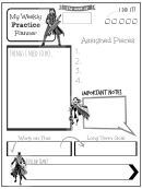 Weekly Practice Planner For Kids