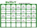 Body Beast Lean Schedule Month 1