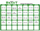 Body Beast Lean Schedule Month 2