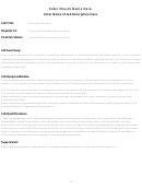 Job Description Sample Form (blank)