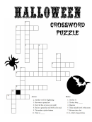 Halloween Crossword Puzzle With Solution