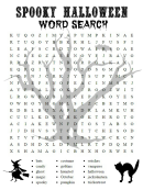 Spooky Halloween Word Search