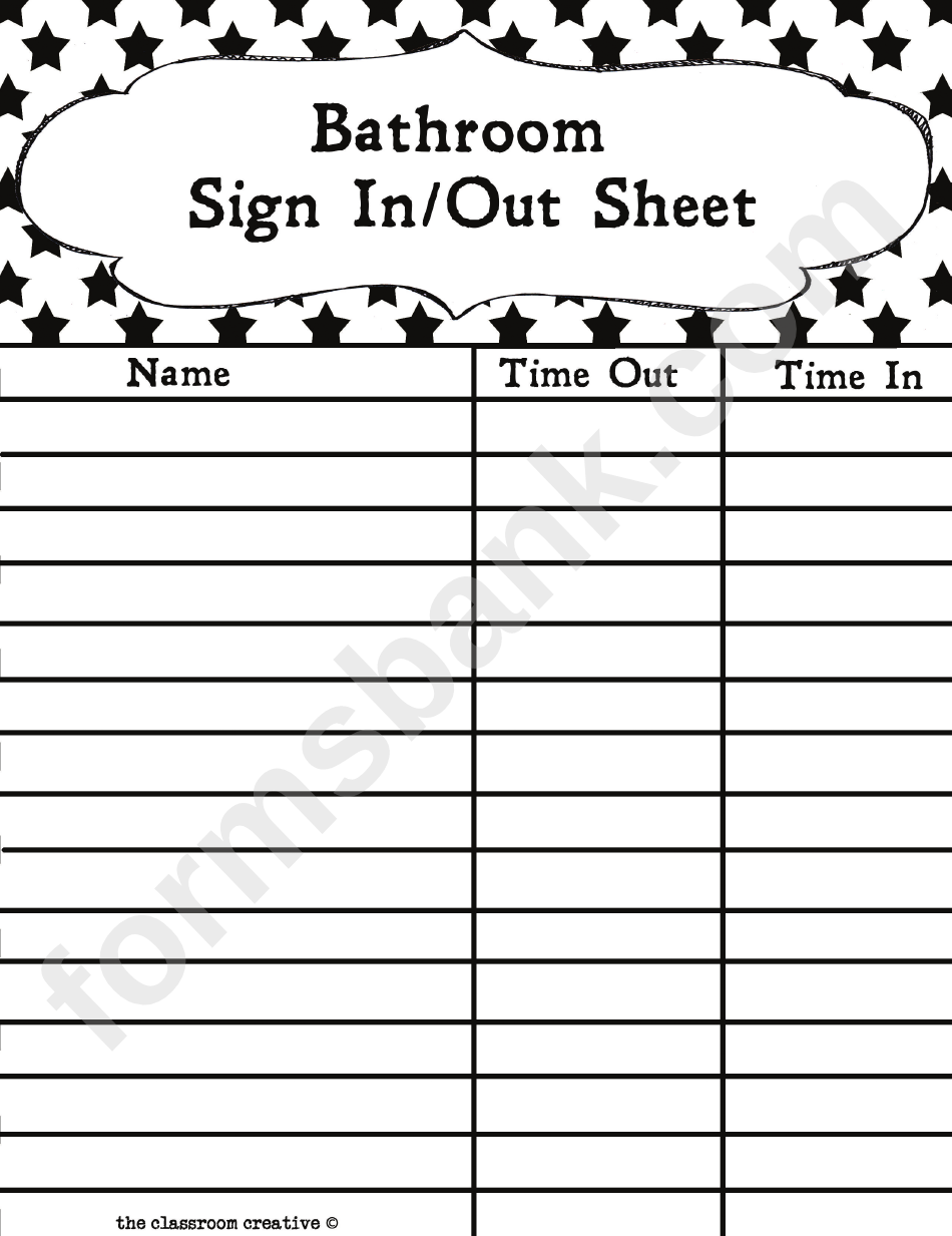 It is an image of Sizzling Free Printable Sign in and Out Sheets