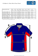 Children's Polo Shirt Size Chart