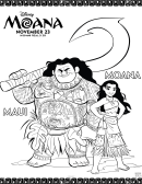 Moana Kids Activity Sheets And Coloring Pages