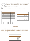 Men's/unisex Hat Sizing Chart