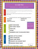 21 Day Fix Upper Body Fix - Travel Cheat Sheet