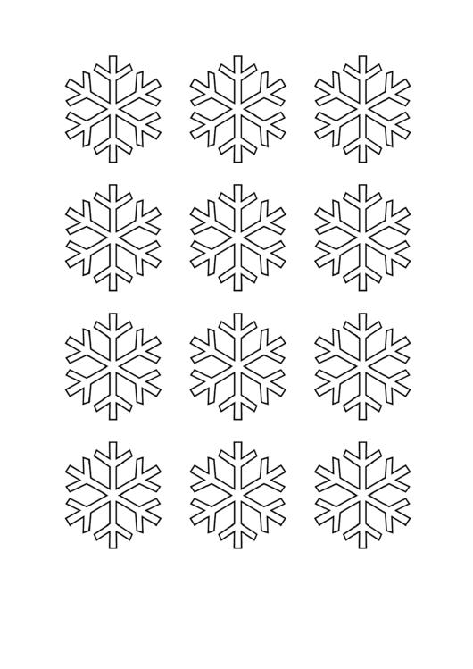 snowflake stencil template printable pdf download