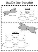 Leather Bow Template