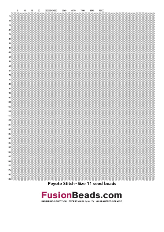 Peyote Stitch Graph Paper Template Size 11 Seed Beads