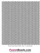 Three-drop Peyote Stitch Graph Paper - Size 11 Seed Beads