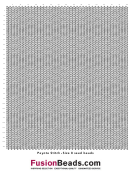 Peyote Stitch Graph Paper Template - Size 8 Seed Beads