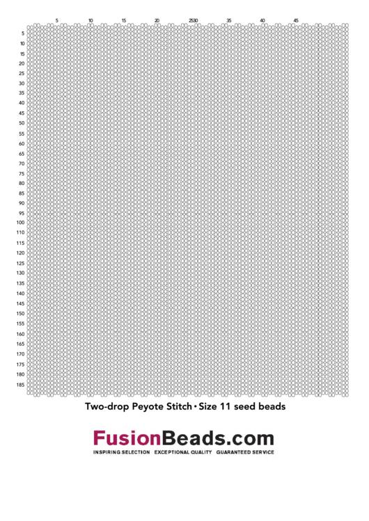 Two-Drop Peyote Stitch Graph Paper - Size 11 Seed Beads Printable pdf