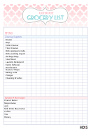 Ultimate Grocery List Template