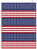 Patriotic Paper Template For Paper Chain