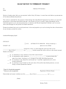 30-day Notice To Terminate Tenancy