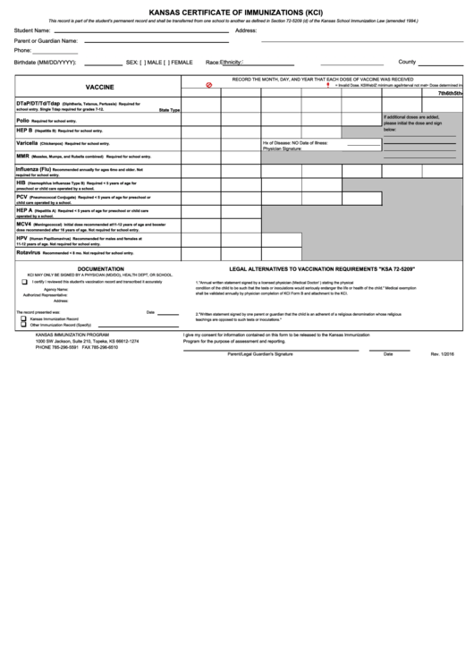 78 Immunization Form Templates free to download in PDF