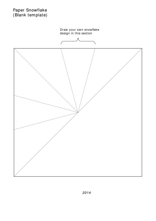 Blank Paper Snowflake Template