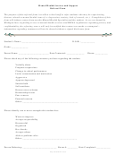 Mental Health Services And Support Referral Form