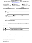 Temporary Restraining Order - Sheriff Of The County Of Riverside, Ca
