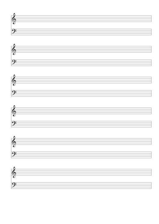 Piano Staff Paper