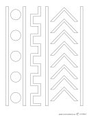 Faux Mud Cloth Curtain Stencil Template