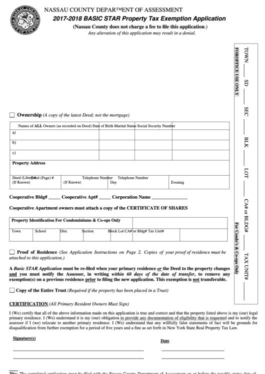 ctn exemption application forms 2017