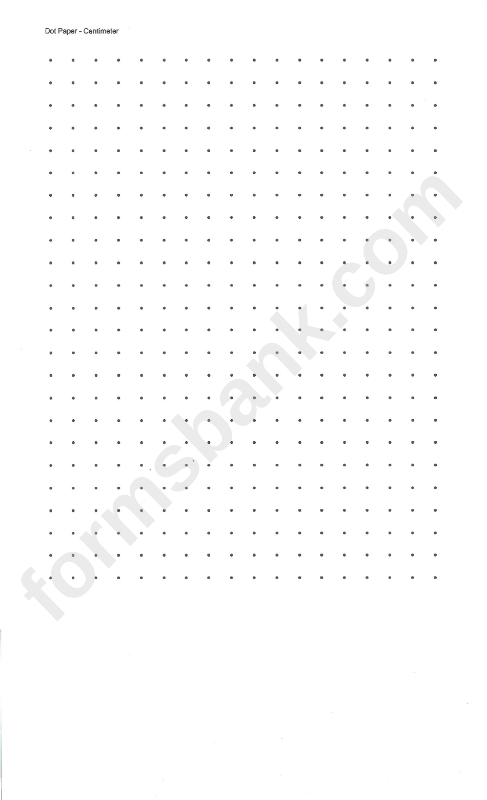 Centimeter Dot Graph Paper