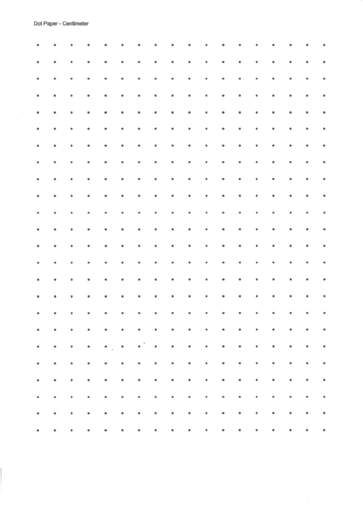 Centimeter Dot Graph Paper Printable pdf