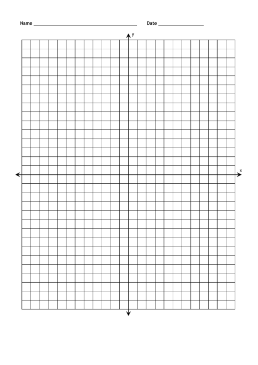 Full Page Blank Coordinate Grid Paper With Axis